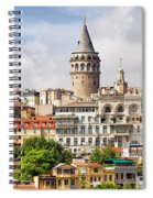 Istanbul Cityscape And Galata Tower Spiral Notebook
