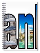 Istanbul Word Montage Spiral Notebook