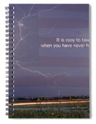 It Is Easy To Take Liberty For Granted Spiral Notebook