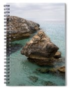 It Rocks 2 - Close To Son Bou Beach And San Tomas Beach Menorca Scupted Rocks And Turquoise Water Spiral Notebook