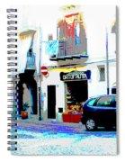 Italian City Street Scene Digital Art Spiral Notebook