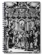 Italian Comedians, 1689 Spiral Notebook