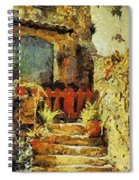 Italian Courtyard Spiral Notebook
