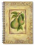 Italian Fruit Pears Spiral Notebook