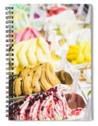 Italian Gelatto Ice Cream Spiral Notebook