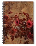 Italian Impasto Style Coral Floral Branch Spiral Notebook