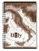Italian Map Spiral Notebook