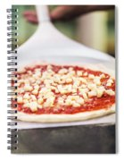 Italian Pizza Ready For The Oven Spiral Notebook