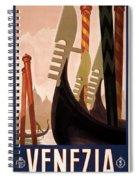 Italian Travel Poster, C1920 Spiral Notebook