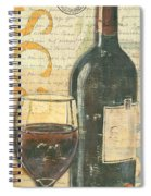Italian Wine And Grapes Spiral Notebook