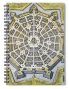 Italy: Palmanova Map, 1598 Spiral Notebook