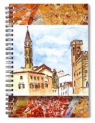 Italy Sketches Florence Towers Spiral Notebook