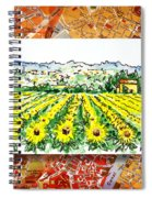 Italy Sketches Sunflowers Of Tuscany Spiral Notebook
