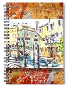 Italy Sketches Venice Canale Spiral Notebook