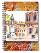Italy Sketches Venice Piazza Spiral Notebook