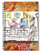 Italy Sketches Venice Two Gondoliers Spiral Notebook