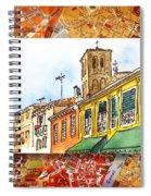 Italy Sketches Venice Via Nuova Spiral Notebook
