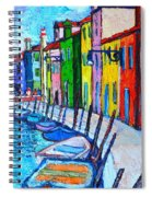 Italy - Venice - Colorful Burano - The Right Side  Spiral Notebook
