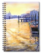 Italy Venice Dawning Spiral Notebook