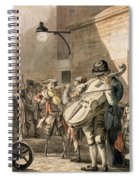 Itinerant Musicians Playing In A Poor Spiral Notebook