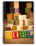 Its A Girl - Alphabet Blocks Spiral Notebook