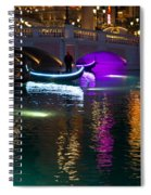 It's Not Venice - Brilliant Lights Glamorous Gondolas And The Magic Of Las Vegas At Night Spiral Notebook