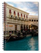 It's Not Venice - Gondoliers On The Grand Canal Spiral Notebook