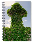 Ivy Covered Cross Spiral Notebook