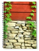 Ivy On Stone And Wood Spiral Notebook