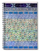 Iznik Ceramics With Floral Design Spiral Notebook