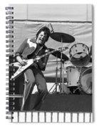 J. Geils On Stage In Oakland 1976 Spiral Notebook