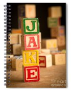 Jake - Alphabet Blocks Spiral Notebook