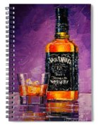 Still Life With Bottle And Glass Spiral Notebook