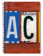 Jack License Plate Name Sign Fun Kid Room Decor Spiral Notebook