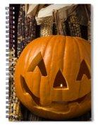 Jack-o-lantern And Indian Corn  Spiral Notebook