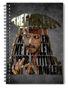 Jack Sparrow Quote Portrait Typography Artwork Spiral Notebook