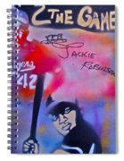 Jackie Robinson Red Spiral Notebook