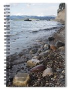 Jackson Lake With Boats Spiral Notebook