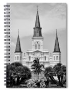 Jackson Square In Black And White Spiral Notebook