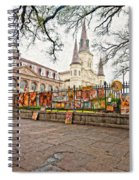 Jackson Square Winter Impasto Spiral Notebook