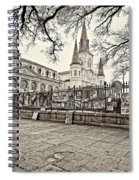 Jackson Square Winter Sepia Spiral Notebook