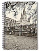 Jackson Square Winter Sepia Spiral Notebook