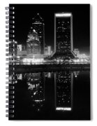 Jacksonille Black And White Night Spiral Notebook