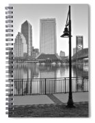 Jacksonville Black And White Ay Spiral Notebook