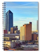 Jacksonville Skyline Morning Day Color Panorama Florida Spiral Notebook
