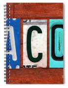 Jacob License Plate Name Sign Fun Kid Room Decor. Spiral Notebook
