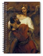 Jacob Wrestling With The Angel Spiral Notebook