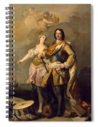 Peter I With Minerva With The Allegorical Figure Of Glory Spiral Notebook