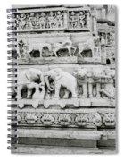 Jagdish Temple Sculpture Spiral Notebook