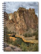 Jagged Peaks And River Reflections Spiral Notebook